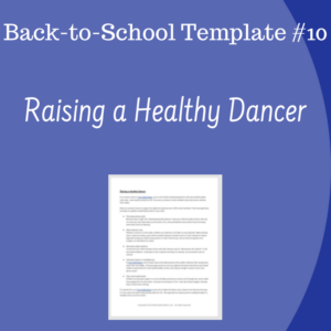 Back To School Template 10 Raising A Healthy Dancer